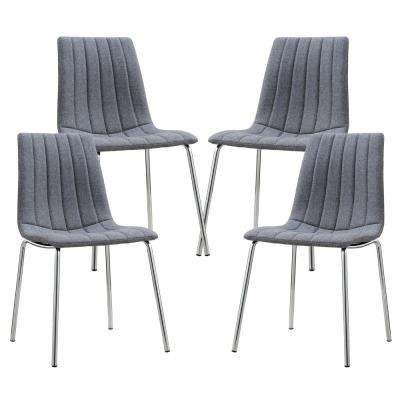 Pierce Gray Fabric Side Chair (Set of 4)