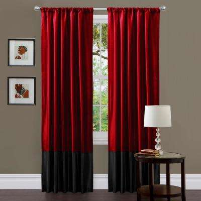 Milione Window Panel in Red - 84 in. L x 42 in. W (2-Piece)