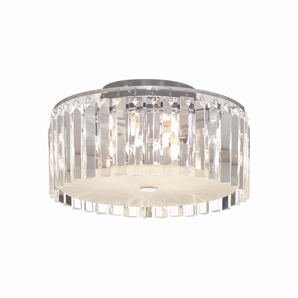 5 Light Frosted Ceiling Lamp With Clear Decorative Gl Plates