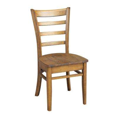 Distressed Pecan Emily Chair (Set of 2)