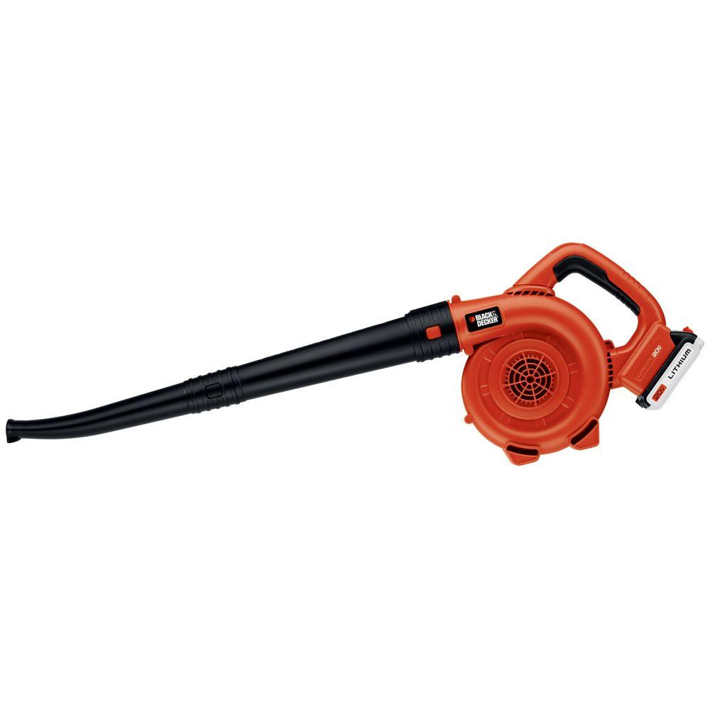 BLACK+DECKER BLACK+DECKER 120 MPH 120 CFM 20-Volt MAX Lithium-Ion Cordless Handheld Leaf Sweeper with 1.5Ah Battery and Charger Included