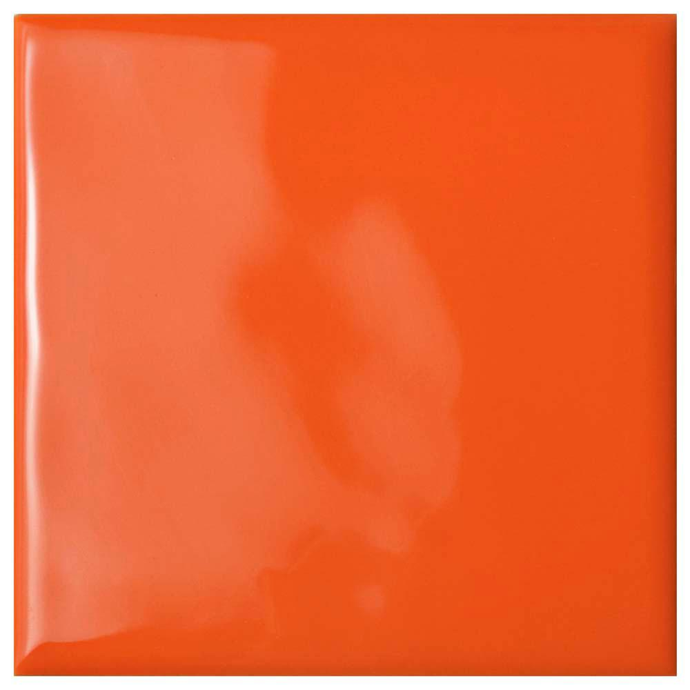 Orange ceramic tile tile the home depot twist square orange sunset 3 34 in x 3 3 dailygadgetfo Choice Image