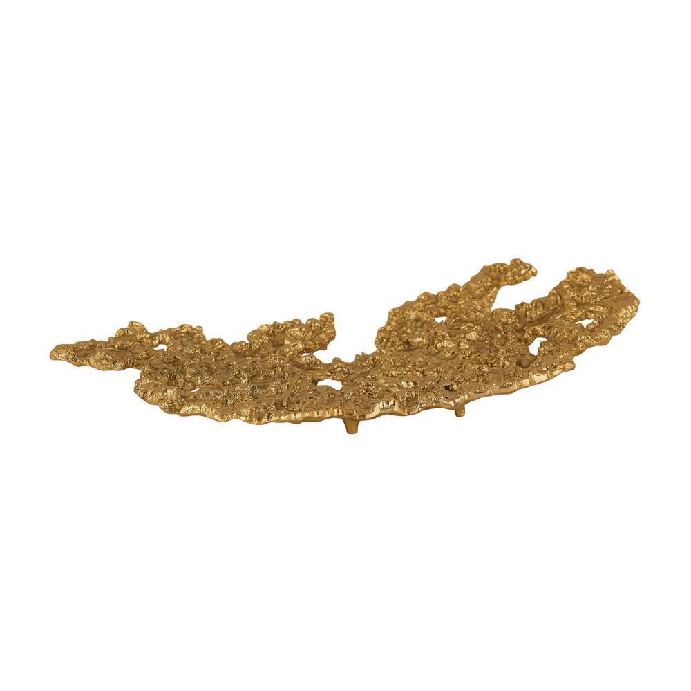 Gold Rush 12 in. x 12 in. Aluminum Decorative Plate in Gold