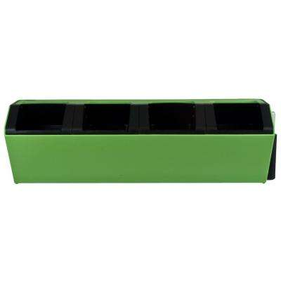 Vesi 7 in. L x 22.5 in. W x 7 in. H Green Plastic Self-Watering Wall Planter