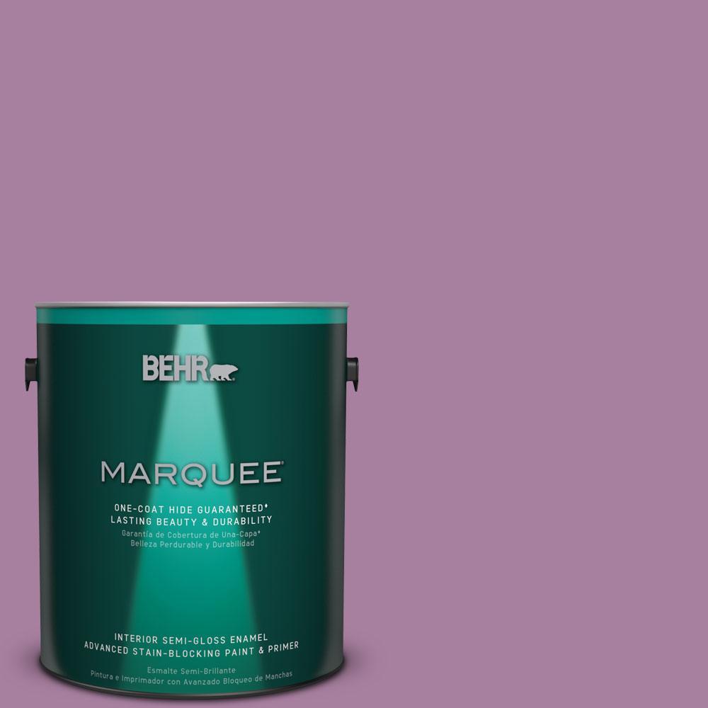 1 gal. #M110-5 Amazonian Orchid One-Coat Hide Semi-Gloss Enamel Interior Paint