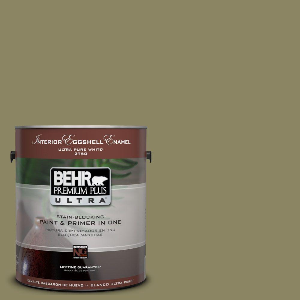 BEHR Premium Plus Ultra 1-Gal. #UL200-19 Oregano Spice Interior Eggshell Enamel Paint