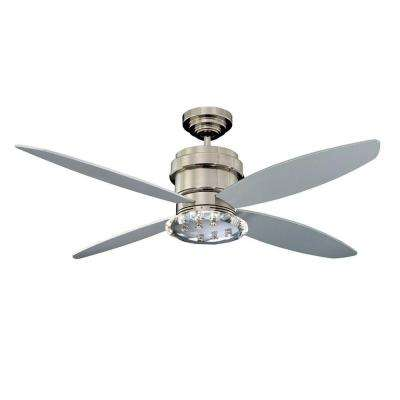 Cassiopeia 52 in. Polished Nickel Indoor Ceiling Fan
