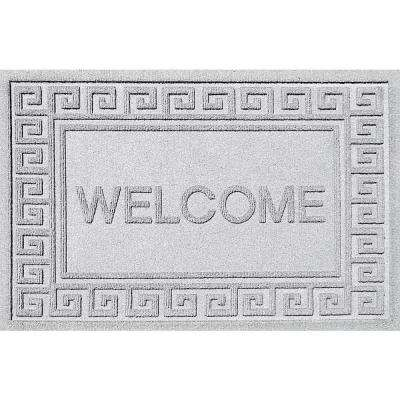Greek Weldome White 24x36 Polypropylene Door Mat