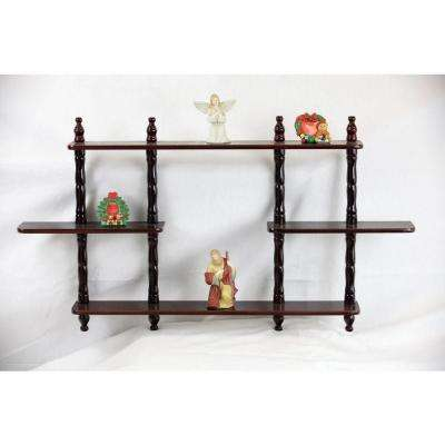3.54 in. D x 27 in. W Wall Mounted Decorative Shelf in Cherry