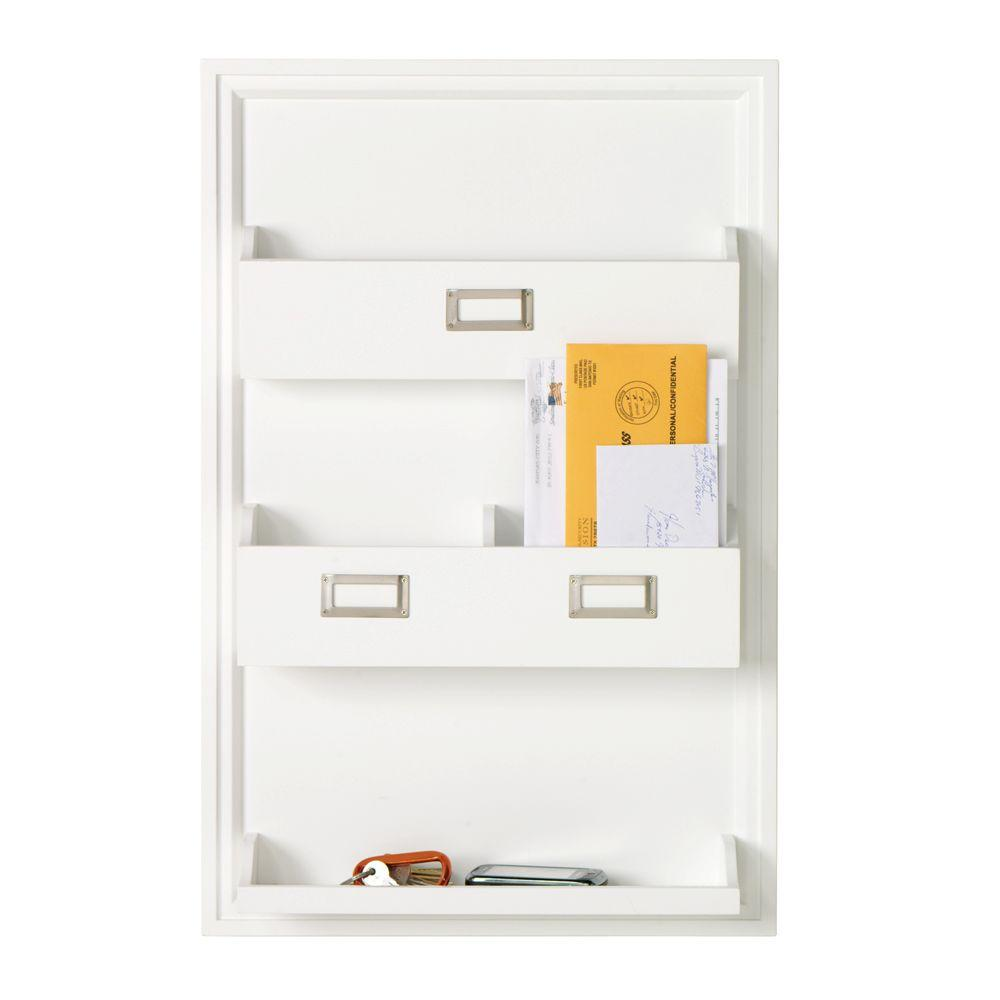 Home Decorators Collection Nathan Wall Magazine Rack in White