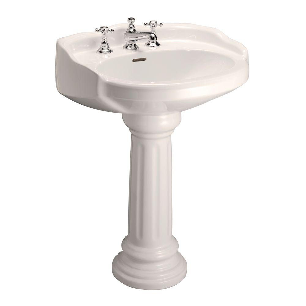 Victoria 26 in. Pedestal Combo Bathroom Sink for 8 in. Widespread
