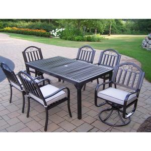 Click here to buy  Rochester 7-Piece Outdoor Dining Set with Oatmeal Cushions.