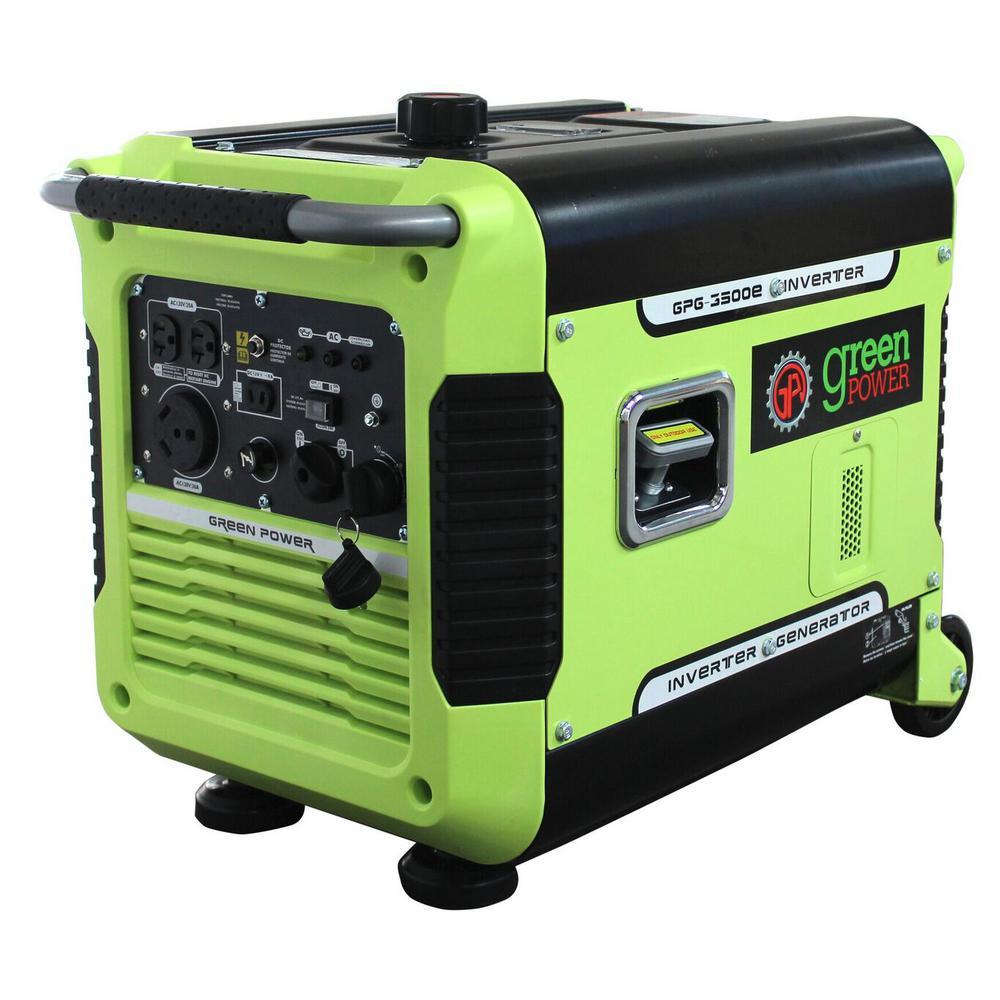 GreenPower 3,000-Watt Gasoline Powered Manual Start Inverter ...