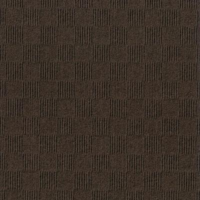 Foss Manufacturing Premium Self-Stick First Impressions City Block Mocha (Brown) Texture 24 in. x 24 in. Carpet Tile (15...