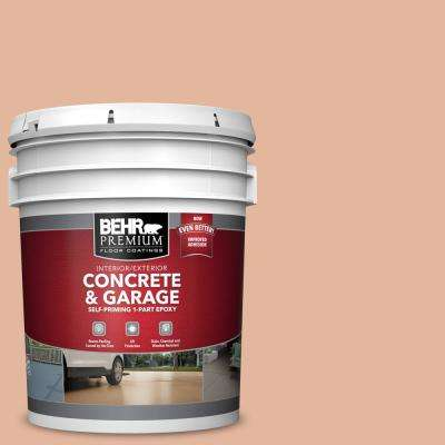 5 gal. #PFC-06 Georgia Peach Self-Priming 1-Part Epoxy Satin Interior/Exterior Concrete and Garage Floor Paint