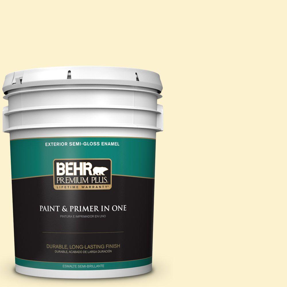 5-gal. #380C-2 Desert Lily Semi-Gloss Enamel Exterior Paint