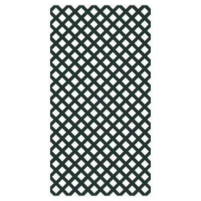 0.2 in. x 48 in. x 8 ft. Woodland Green Vinyl Classic Diamond Lattice