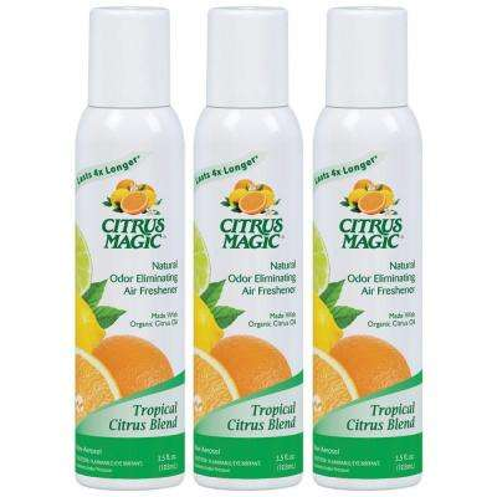 3.5 oz. Tropical Citrus Blend All Natural Odor Eliminating Air Freshener Spray (3-Pack)