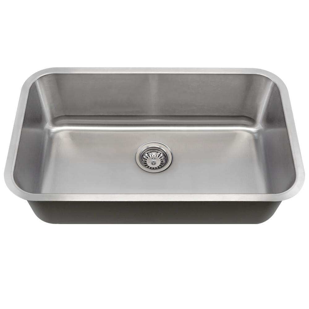 3b05cc82d2 Mr Direct Undermount Stainless Steel 30 In Single Bowl Kitchen Sink 16  Gauge Kitchen Sink. Source. dax farmhouse 50 50 double ...