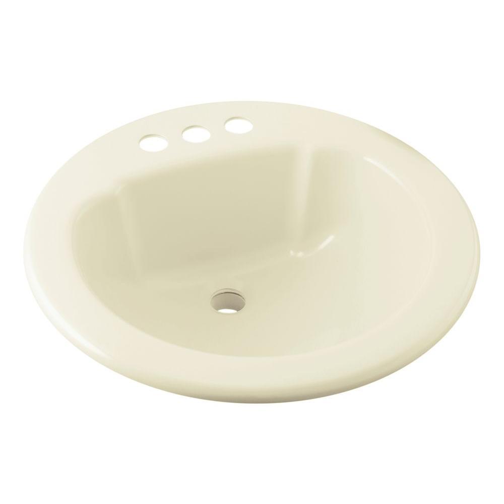 Sterling Drop In Vikrell Self Bathroom Sink Biscuit