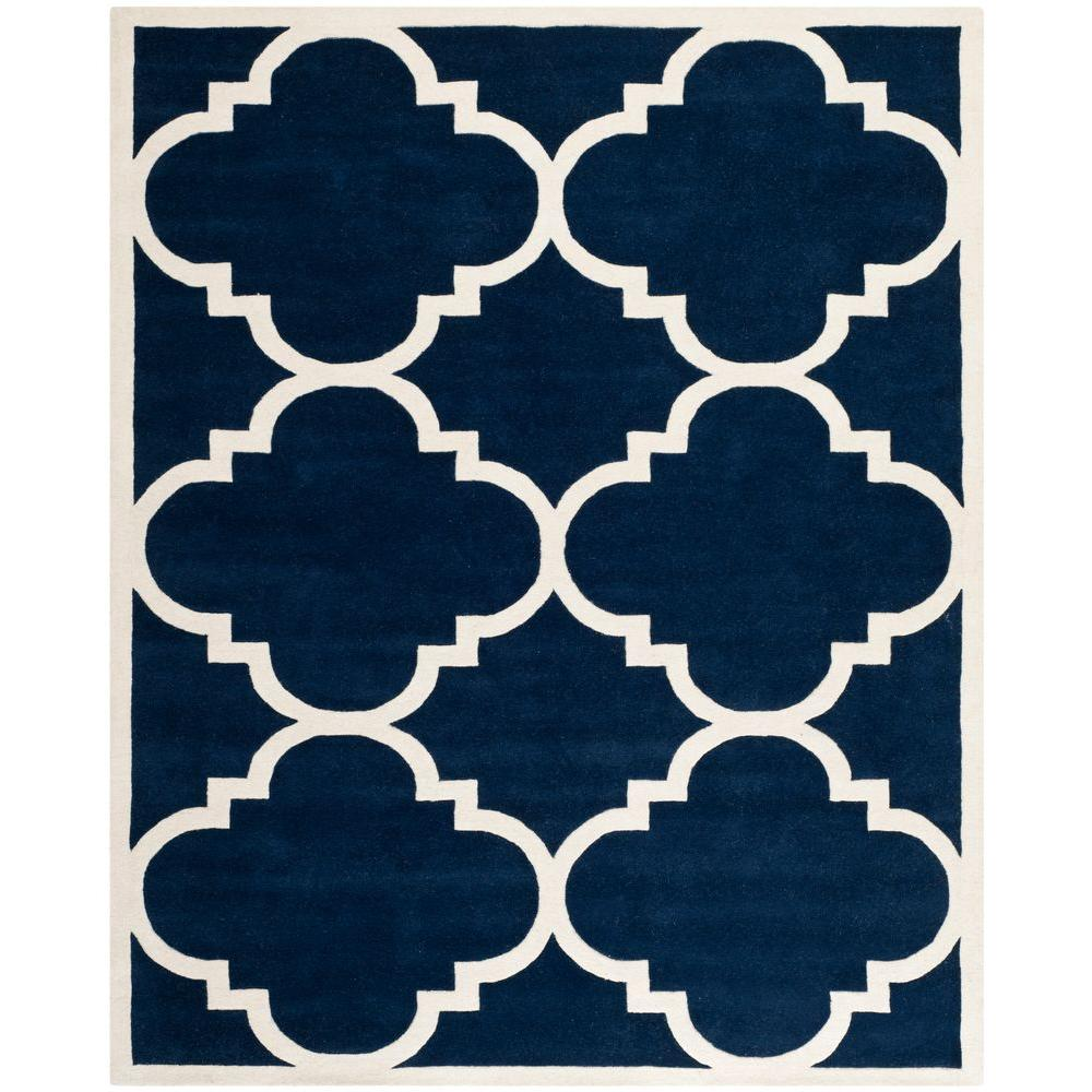 Chatham Dark Blue/Ivory 8 ft. 9 in. x 12 ft. Area