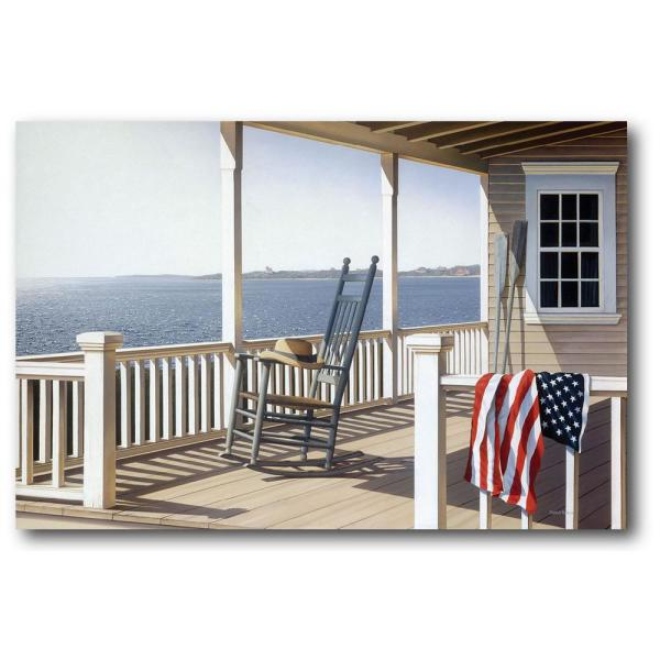 36 in  x 48 in  American Porch Canvas Wall Art