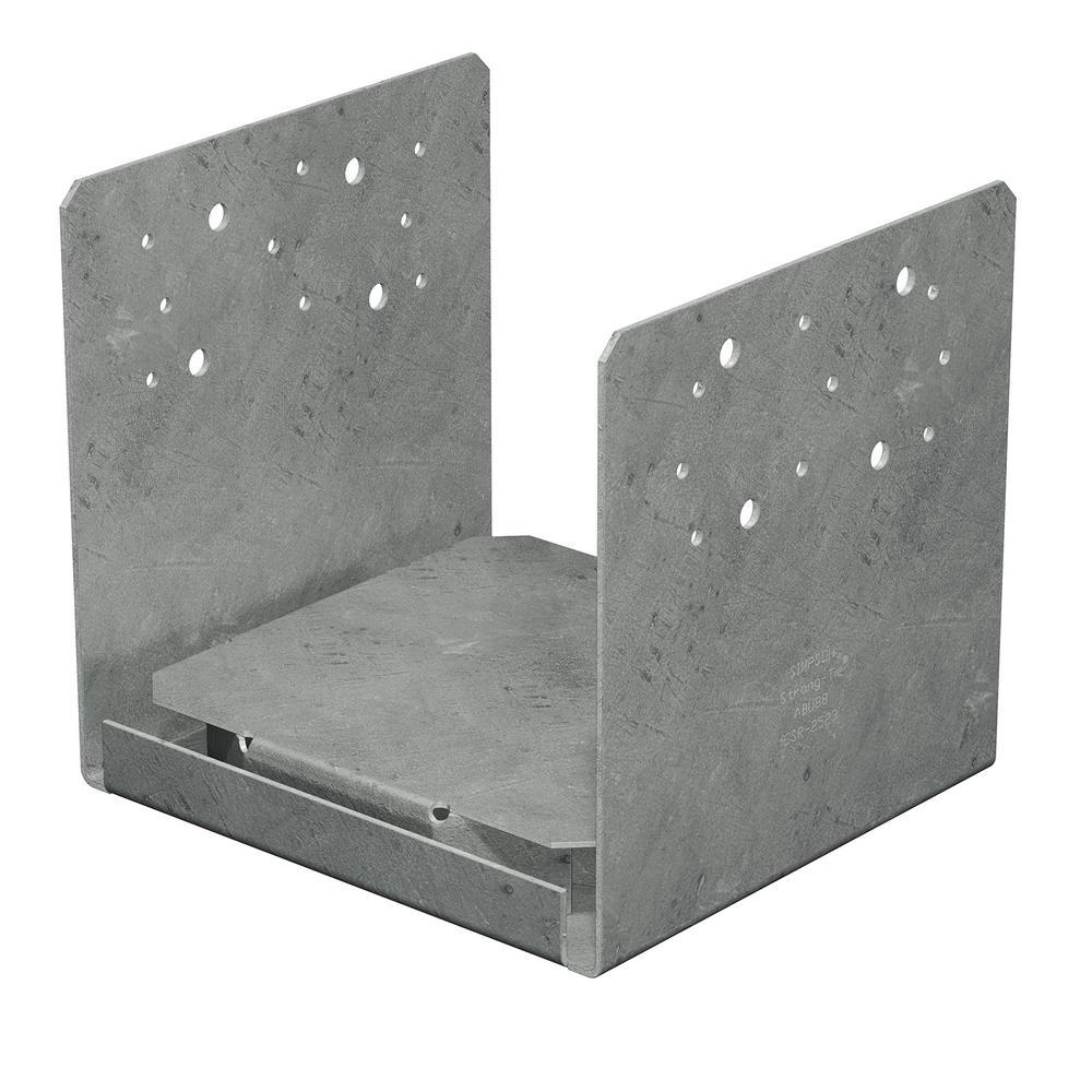 ABU Hot-Dip Galvanized Adjustable Standoff Post Base for 8x8 Nominal Lumber
