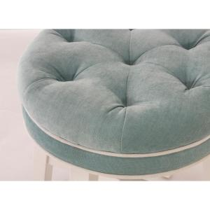 Awesome Hillsdale Furniture Sophia Aqua Blue Fabric Vanity Stool Caraccident5 Cool Chair Designs And Ideas Caraccident5Info