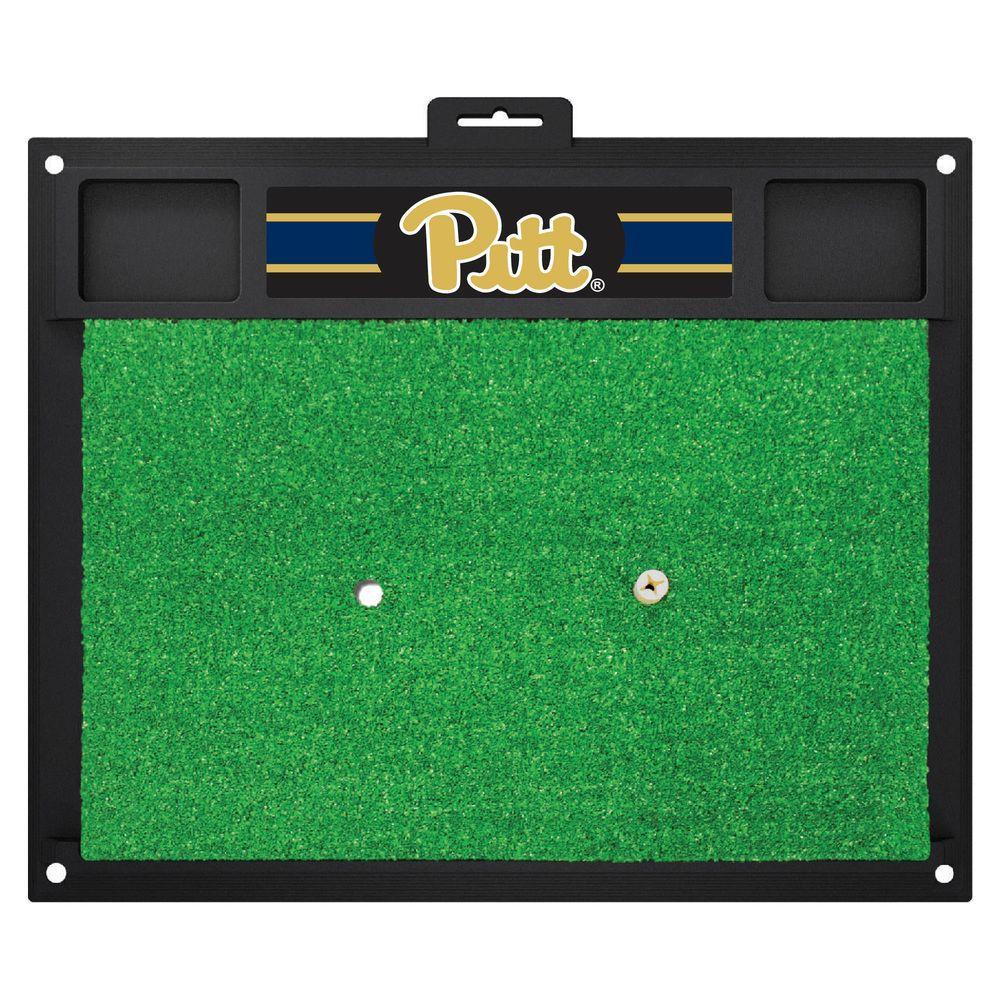 NCAA University of Pittsburgh 17 in. x 20 in. Golf Hitting Mat