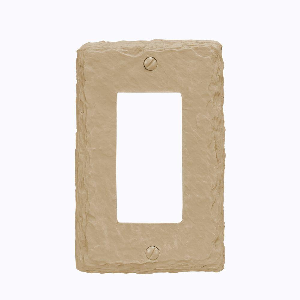 Amerelle Faux Slate Resin 1 Decora Wall Plate - Almond (B...