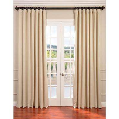 Semi-Opaque Eggnog Ivory Doublewide Blackout Curtain - 100 in. W x 84 in. L (1 Panel)