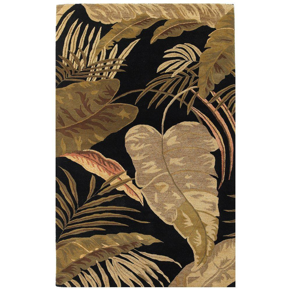 Kas Rugs Landscape Palm Midnight 5 ft. x 8 ft. Area Rug