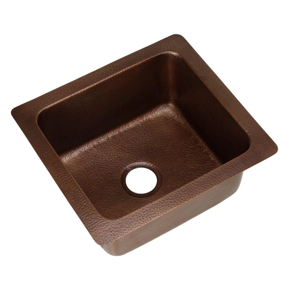 SINKOLOGY Renoir Undermount Handmade Pure Solid Copper 21 in. 0-Hole Single Basin Copper Kitchen Sink in Antique Copper