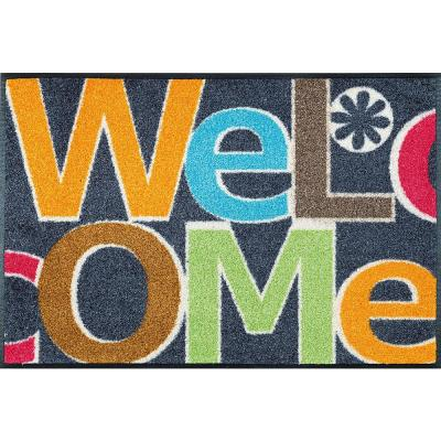Whimsy Welcome Letters 20 in. x 30 in. Nylon Doormat