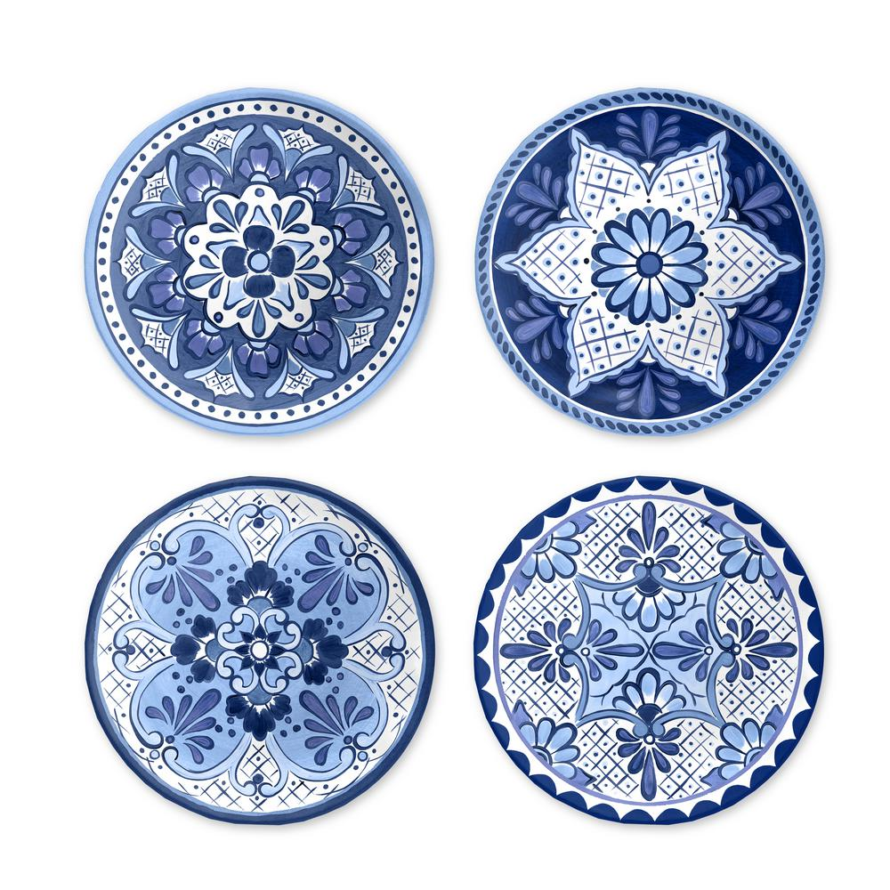 Cobalt Casita Assorted Salad Plates (Set of 4)