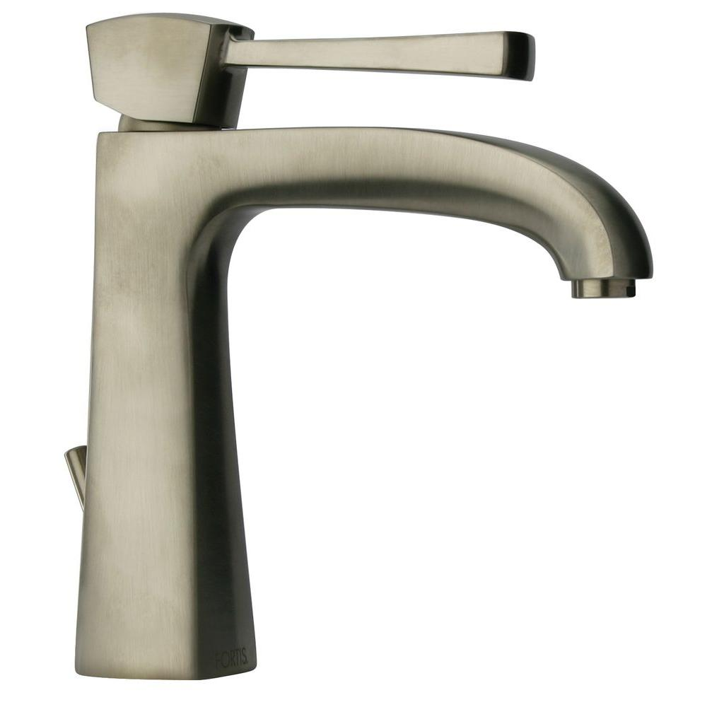 LaToscana Lady Single Hole 1-Handle Low-Arc Bathroom Faucet in Brushed Nickel