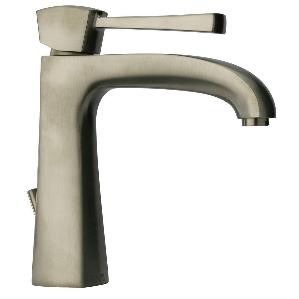 LaToscana Lady Single Hole 1-Handle Low-Arc Bathroom Faucet in Brushed Nickel