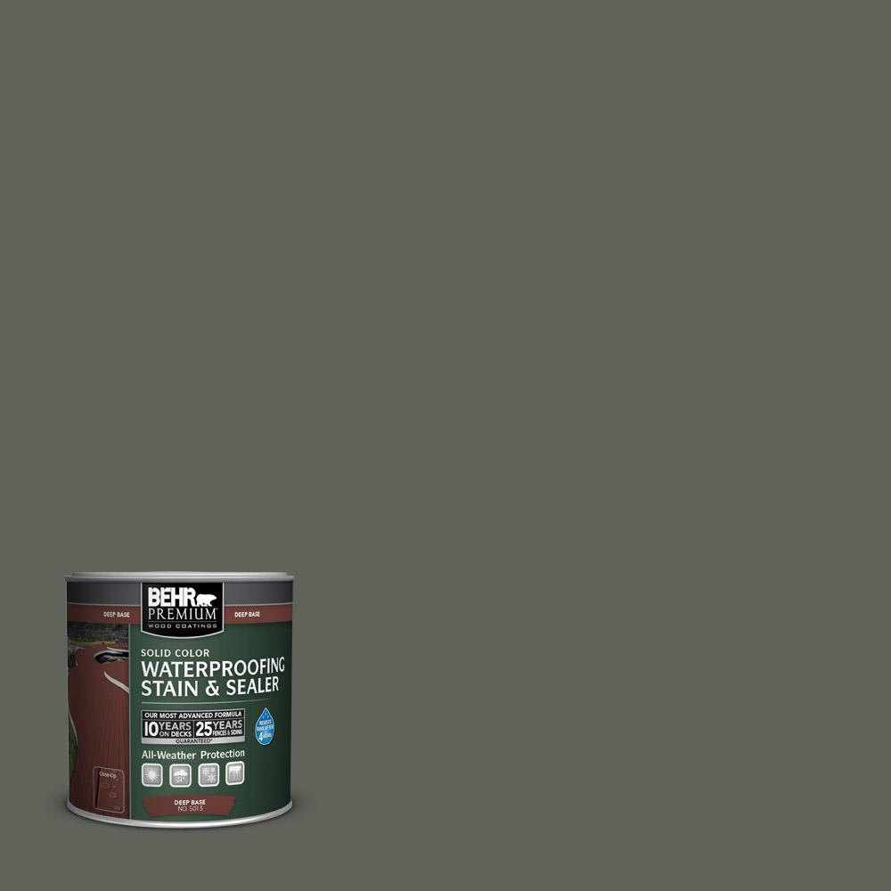 Sc 131 Pewter Solid Color Waterproofing Exterior Wood Stain