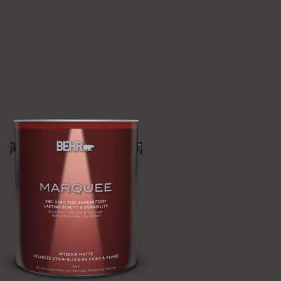 1 gal. Black Matte Interior Paint and Primer in One