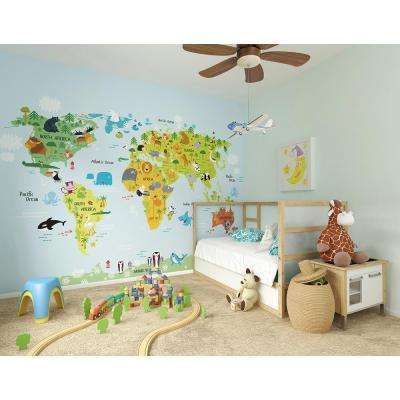 118 in. x 98 in. The Whole Wide World Wall Mural