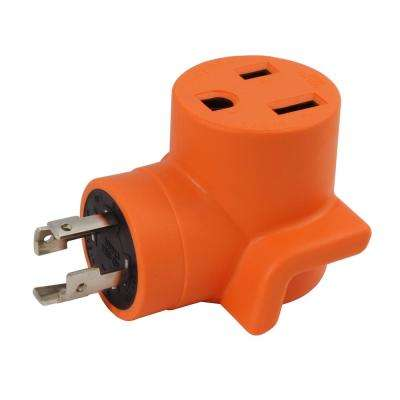 Welder Adapter 30 Amp 4-Prong L14-30P 30 Amp Generator Locking Plug to 6-50R 50 Amp 250-Volt Welder Adapter