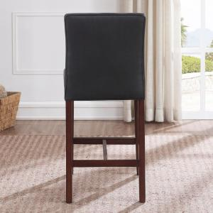 Remarkable Simone 25 In Charcoal Cushioned Leather Counter Stool 3207 Gmtry Best Dining Table And Chair Ideas Images Gmtryco