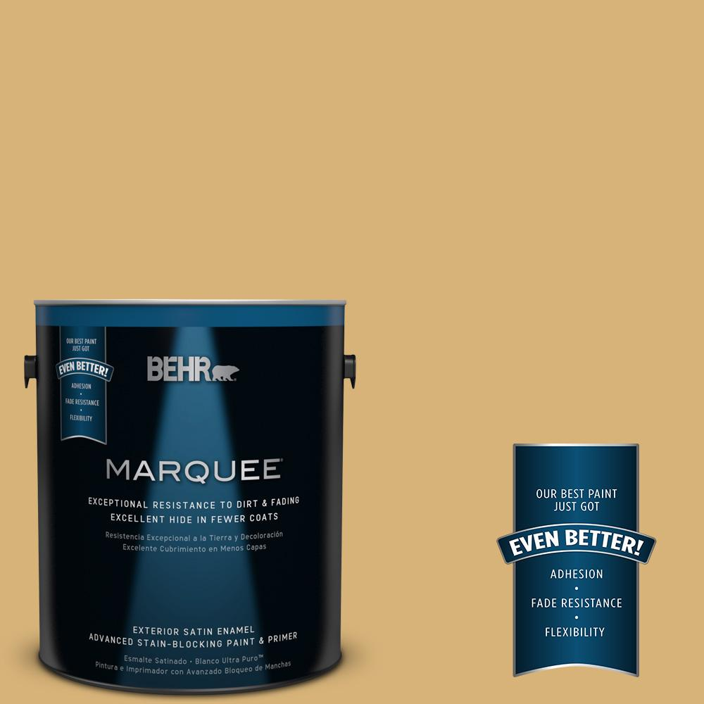 BEHR MARQUEE 1-gal. #UL180-22 Egyptian Temple Satin Enamel Exterior Paint