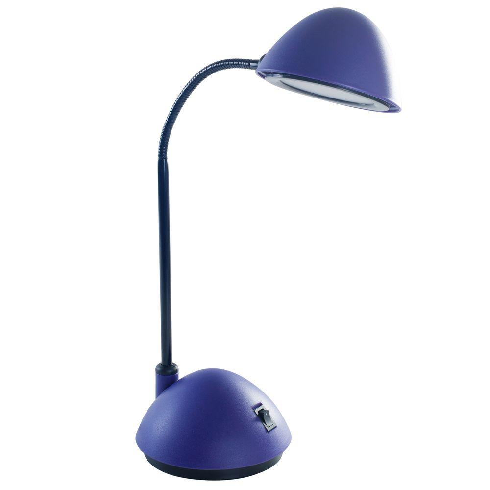 Lavish Home 21 in. Purple Bright Energy Saving LED Desk Lamp