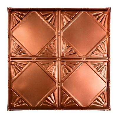 Erie 2 ft. x 2 ft. Nail-up Tin Ceiling Tile in Vintage Bronze