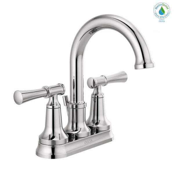 Chamberlain 4 in. Centerset 2-Handle Bathroom Faucet in Chrome