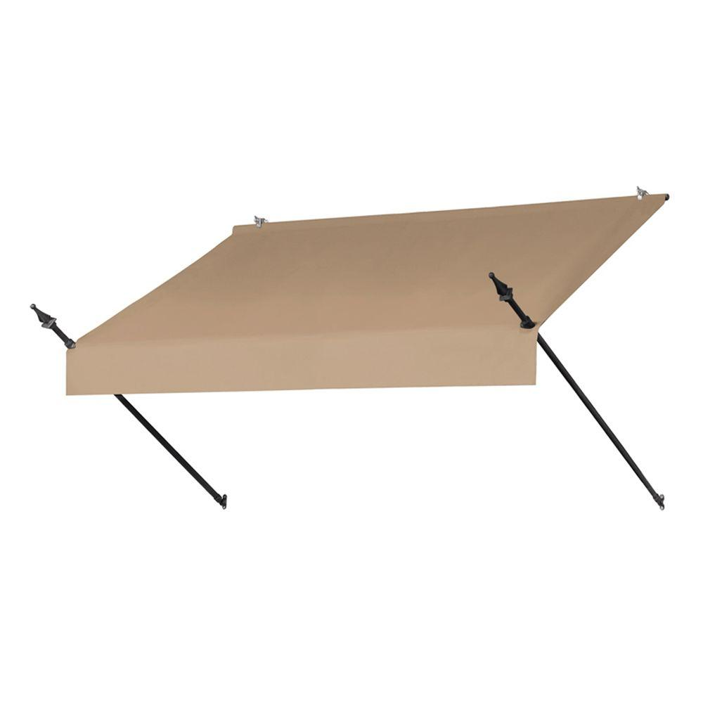 competitive price 1adde dfe55 Awnings in a Box 6 ft. Designer Manually Retractable Awning (36.5 in.  Projection) in Sand