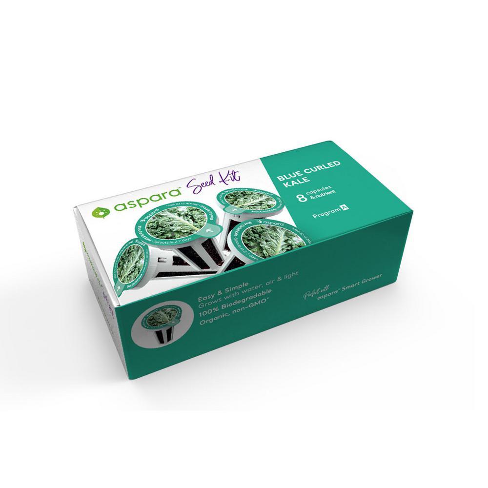 Organic Blue Curled Kale 8-Capsule Vegetable Seed Kit
