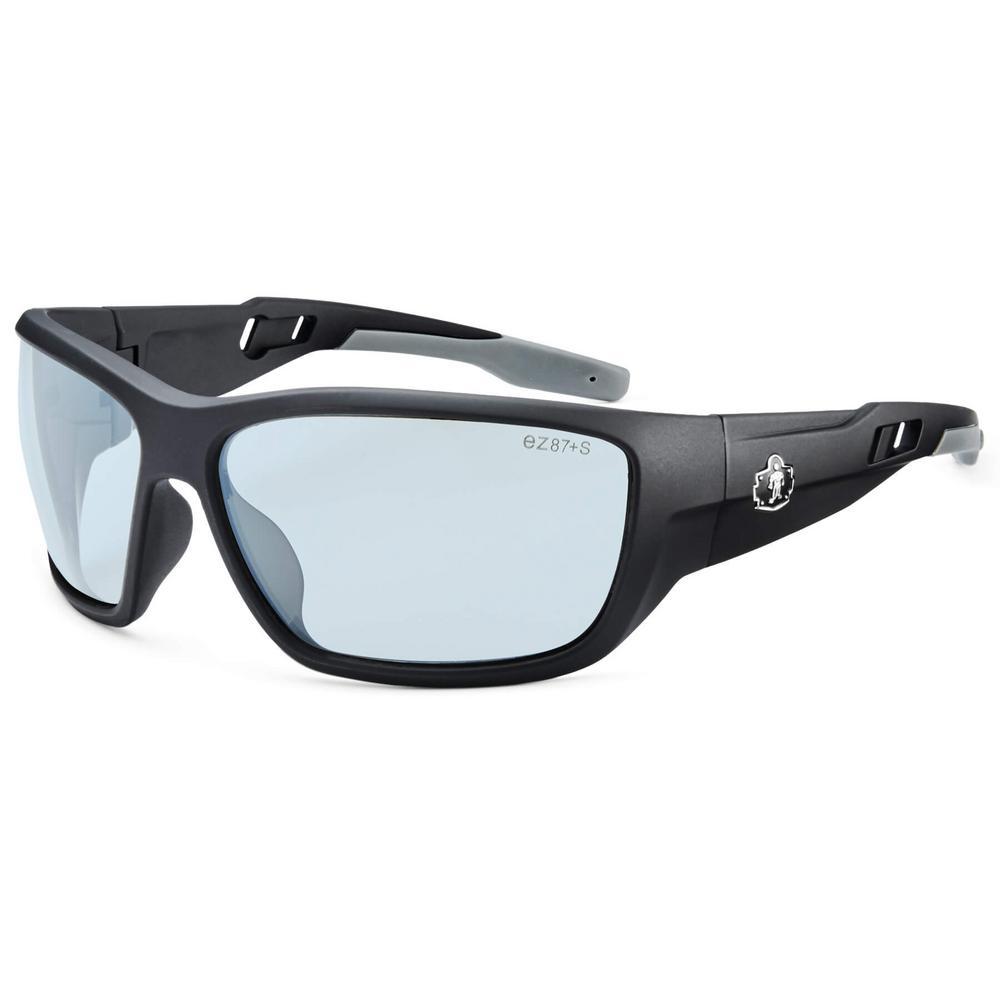 Skullerz Baldr Matte Black Anti-Fog Safety Glasses, In/Outdoor Lens - ANSI Certified