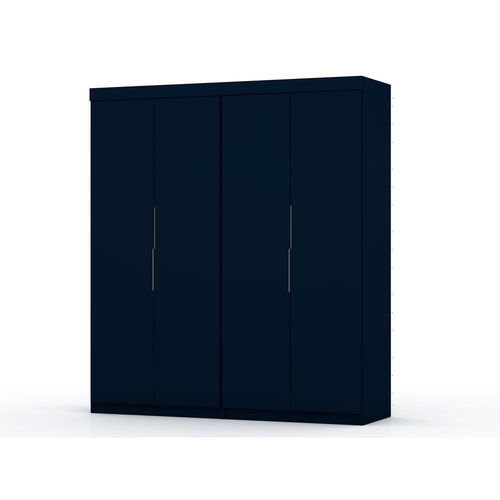 Luxor Ramsey 2.0 Tatiana Midnight Blue Wardrobe Closet (Set of 2)